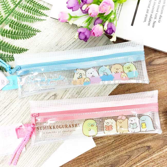 防水透明筆袋 SAN-X 角落生物 sumikko gurashi 拉鍊筆袋 正版授權
