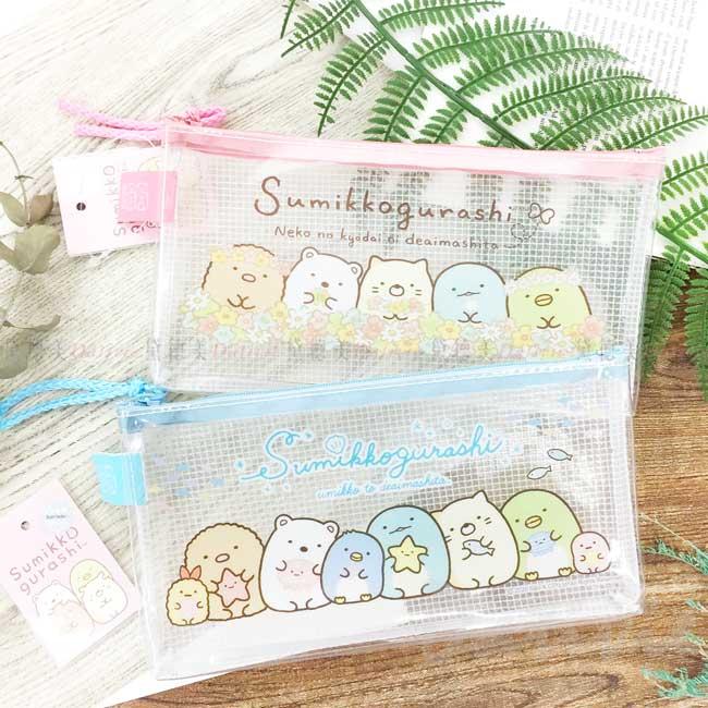 防水透明筆袋40K san-x 角落生物 sumikko gurashi 拉鍊筆袋 正版授權