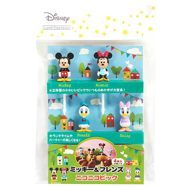 食物叉4入 迪士尼 米奇 米妮 唐老鴨 黛西 Donald Duck 造型叉子 日本進口正版授權