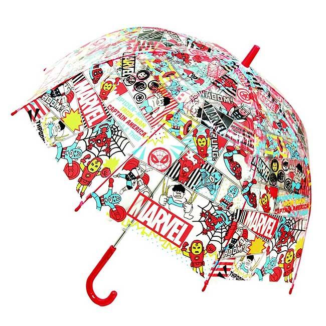 透明直傘55cm 迪士尼 漫威 限定卡通人物 雨傘 日本進口正版授權