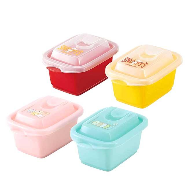 保鮮盒240ml 2入 日本 san-x 角落生物 史努比 小便當盒 日本進口正版授權