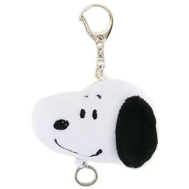 造型絨毛伸縮鑰匙圈 史努比 SNOOPY PEANUTS 鎖匙圈 日本進口正版授權
