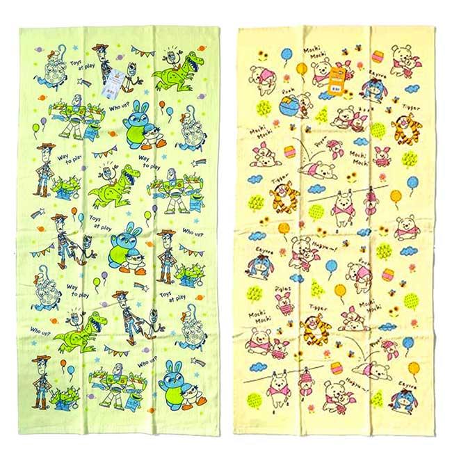 紗布大浴巾 迪士尼 小熊維尼 玩具總動員 PIXAR 毛巾 日本進口正版授權