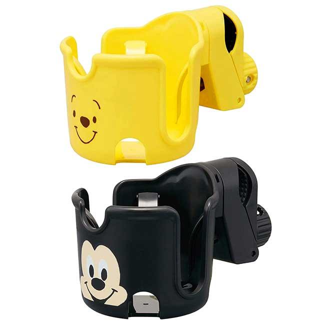 嬰兒推車可調式杯架 迪士尼 維尼 米奇 BABY SKATER 嬰兒車杯架 日本進口正版授權