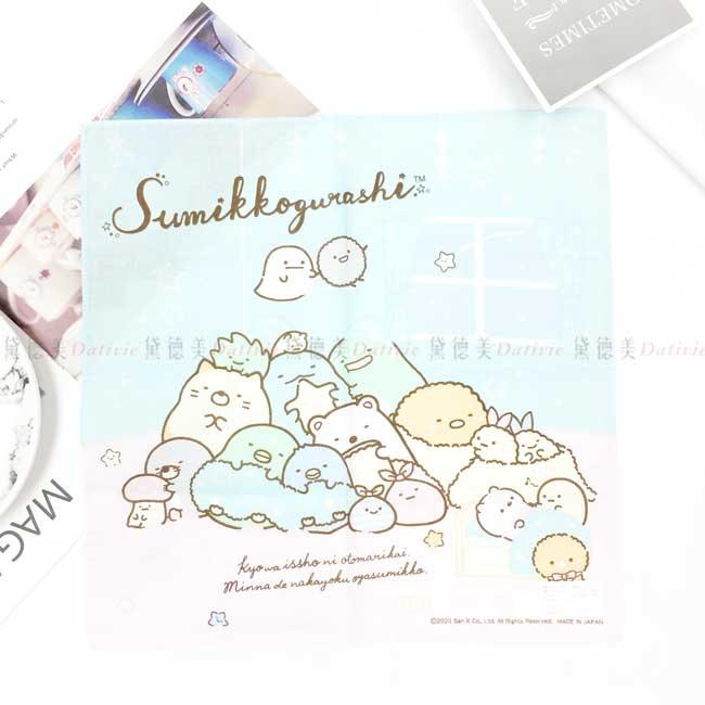 純棉方巾 日本 SAN-X 角落生物 sumikko gurashi 手帕 日本進口正版授權