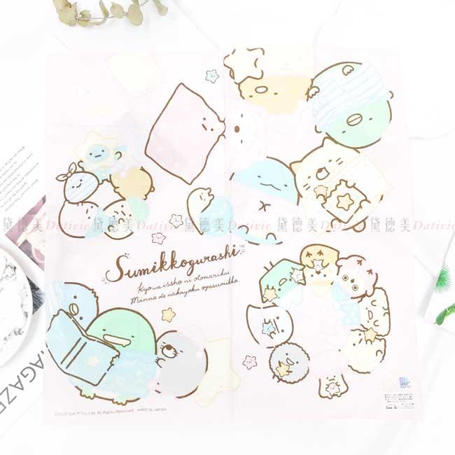 純棉方巾 日本 san-x 角落小夥伴 sumikko gurashi 手帕 日本進口正版授權