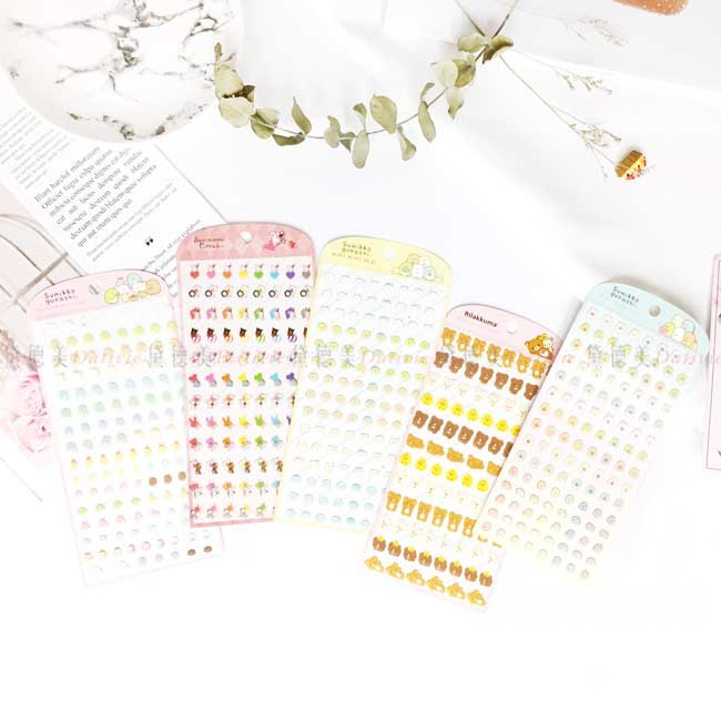 造型透明貼紙 日本 san-x 角落生物 拉拉熊 懶懶熊 憂傷馬戲團 造型貼紙 日本進口正版授權