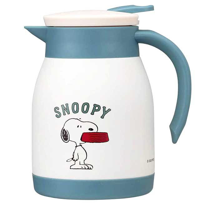 不鏽鋼真空二重熱水壺 史努比 SNOOPY PEANUTS 保溫保冷水壺 日本進口正版授權