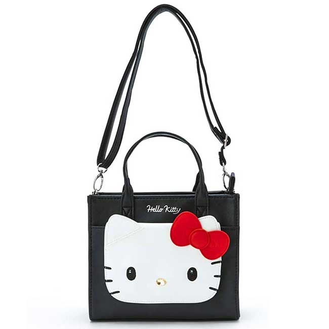 方形皮質手提包 三麗鷗 凱蒂貓 HELLO KITTY 提背包 日本進口正版授權