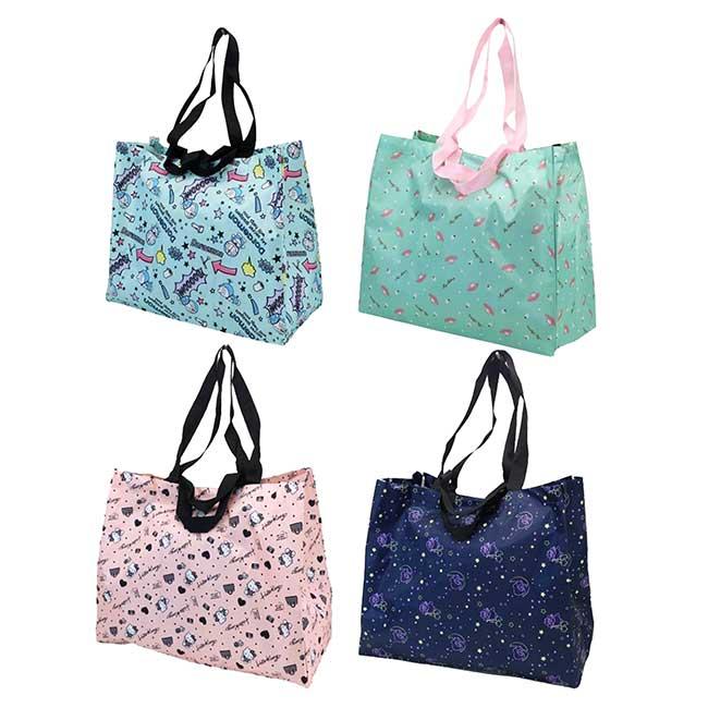 摺疊環保購物袋 三麗鷗 雙子星 美樂蒂 哆啦A夢 大提袋 日本進口正版授權