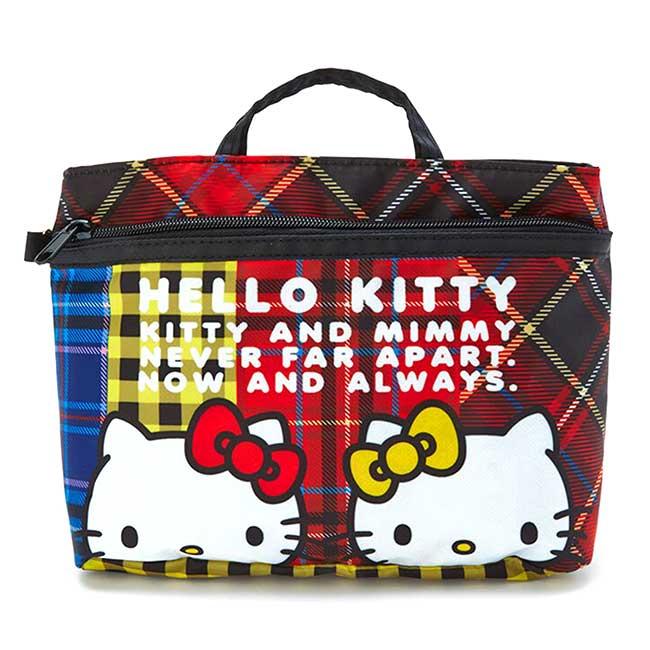尼龍多功能蘇格蘭收納包 三麗鷗 凱蒂貓 HELLO KITTY 提包 日本進口正版授權