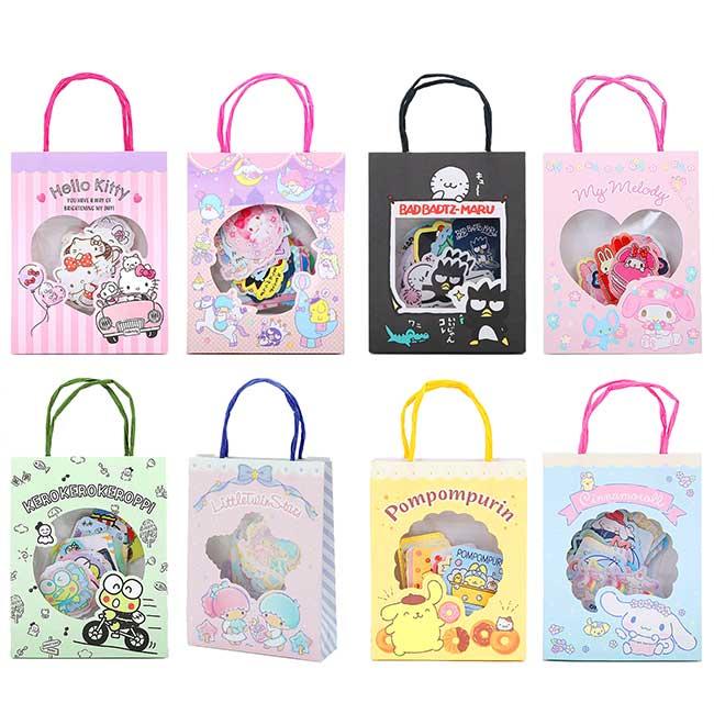 造型貼紙附小提袋 日本 三麗鷗 KT 大耳狗 雙子星 酷企鵝 美樂蒂 大眼蛙 日本進口正版授權