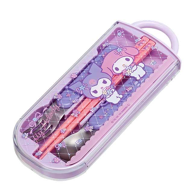 隨身餐具組 日本 美樂蒂 酷洛米 Ag+ SIAA抗菌加工 SKATER 三合一餐具組 日本進口正版授權