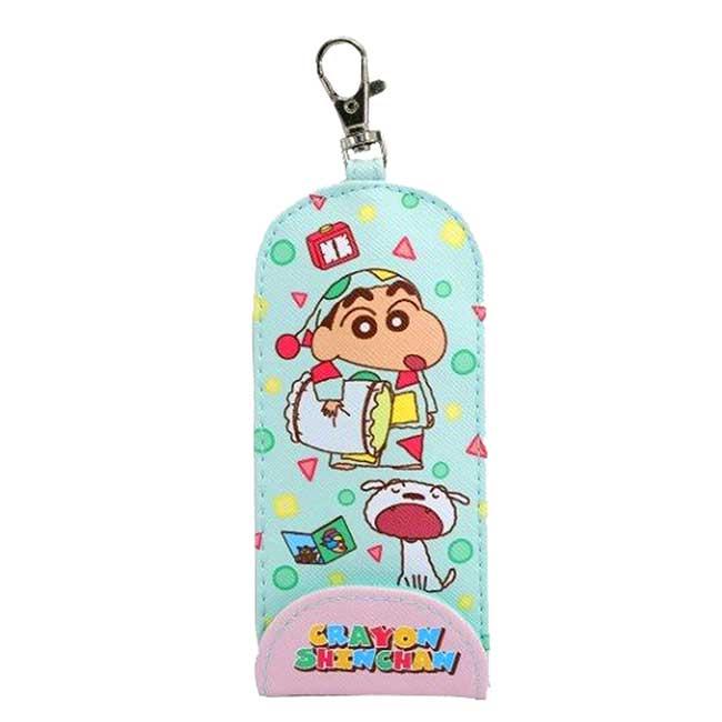 伸縮皮質鑰匙扣 蠟筆小新 Crayon Shin Chain 鎖匙圈 日本進口正版授權