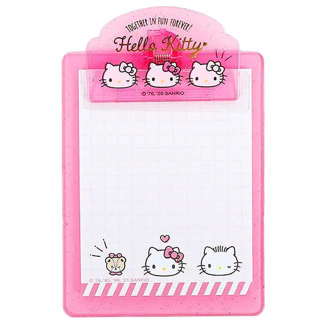 便條紙附板 三麗鷗 凱蒂貓 HELLO KITTY Sanrio 夾板便條紙 日本進口正版授權