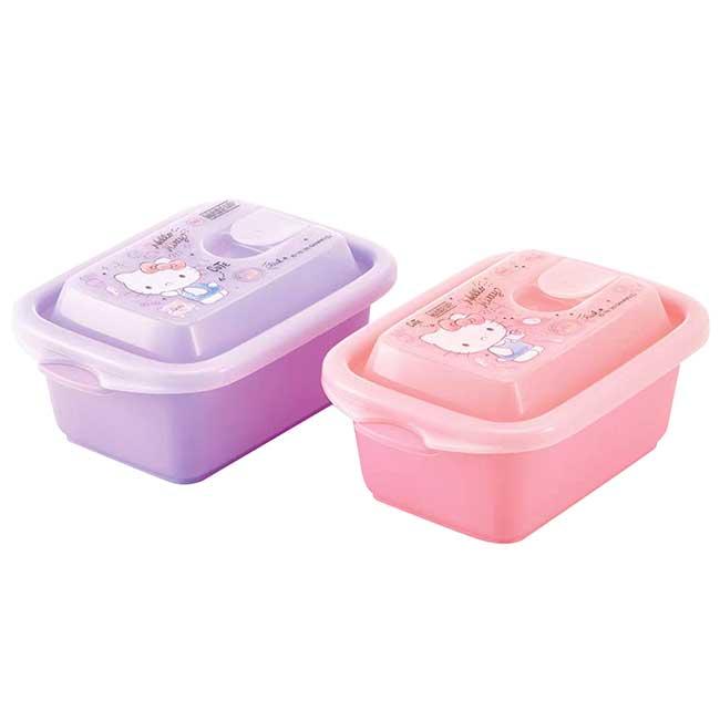 輕量型方形塑膠保鮮盒M 日本 三麗鷗 凱蒂貓 SKATER KITTY 便當盒 日本進口正版授權