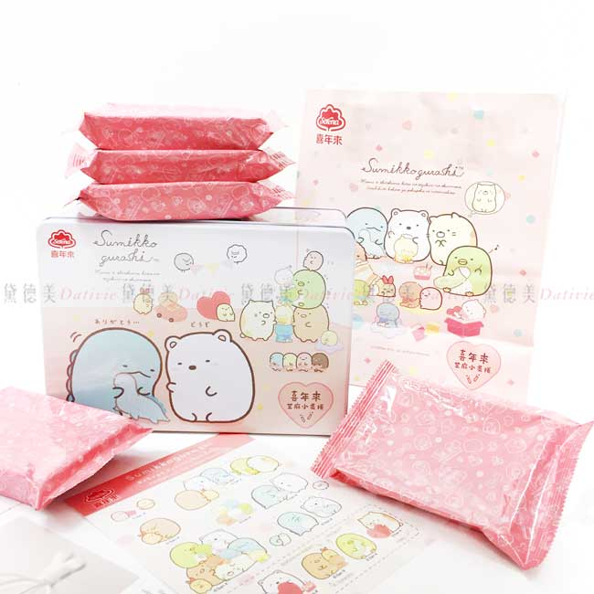 芝麻小蛋捲禮盒 san-x 角落生物 sumikko gurashi 喜年來蛋捲禮盒 正版授權