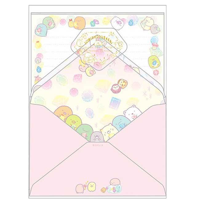 信套組 日本 SAN-X 角落小夥伴 寶石系列 角落生物 信紙組 日本進口正版授權