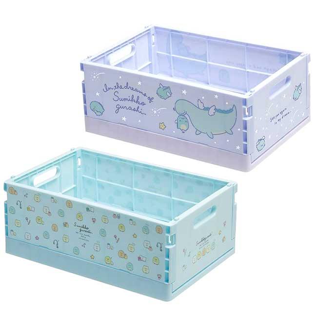 折疊式塑膠收納盒M SAN-X 角落生物 鯨鯊桑 海底生物 JINBESAN 置物箱 日本進口正版授權