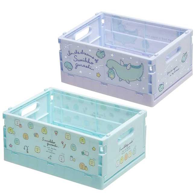 折疊式塑膠收納盒S SAN-X 角落生物 鯨鯊桑 海底生物 JINBESAN sumikko 置物箱 日本進口正版授權