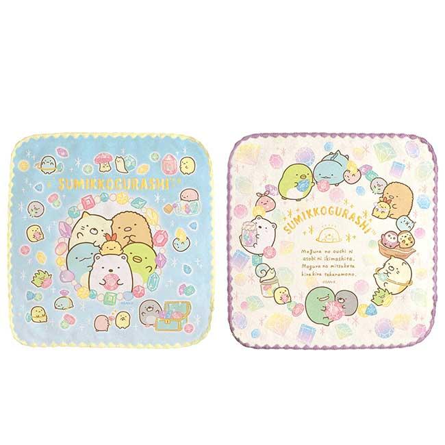 純棉割絨方巾 san-x 角落小夥伴 寶石系列 sumikko gurashi 毛巾 日本進口正版授權