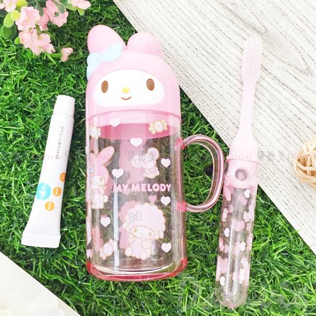 旅行牙刷杯組 日本 三麗鷗 Sanrio Original 美樂蒂 盥洗組 日本進口正版授權