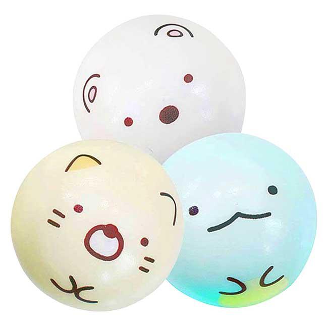 小皮球玩具組3入 san-x 角落生物 sumikko gurashi 塑膠玩具 日本進口正版授權