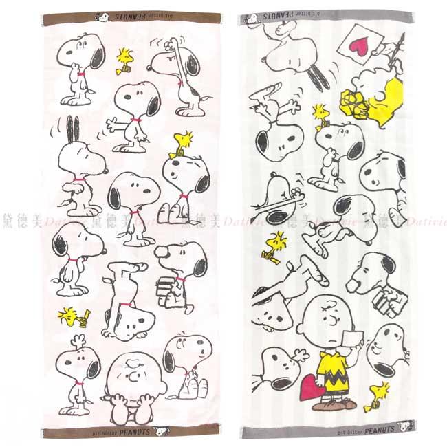 純棉毛巾 史努比 34x80cm SNOOPY PEANUTS 毛巾 日本進口正版授權