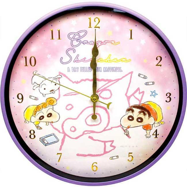 秒針圓形壁掛時鐘 蠟筆小新 Crayon Shin Chain クレヨンしんちゃん 時鐘 日本進口正版授權