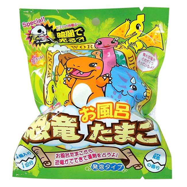 沐浴球 森林香味 恐龍 開運 恐竜お風呂たまご 泡澡球 日本進口正版授權