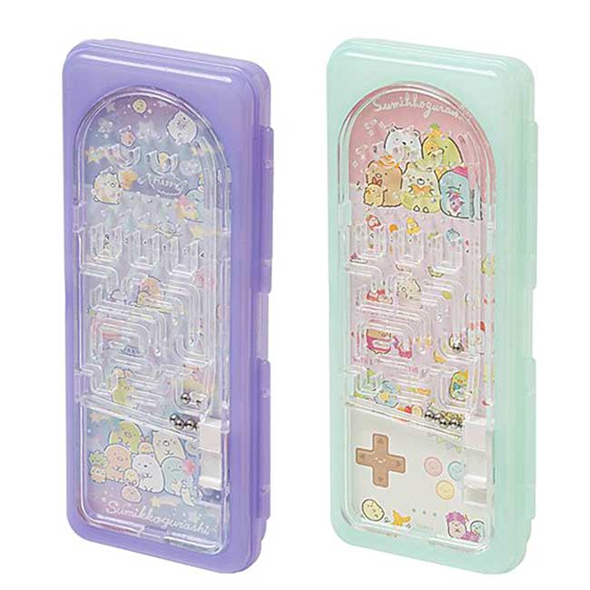 硬殼塑膠掀蓋彈珠鉛筆盒 san-x 角落生物 童玩鉛筆盒 日本進口正版授權
