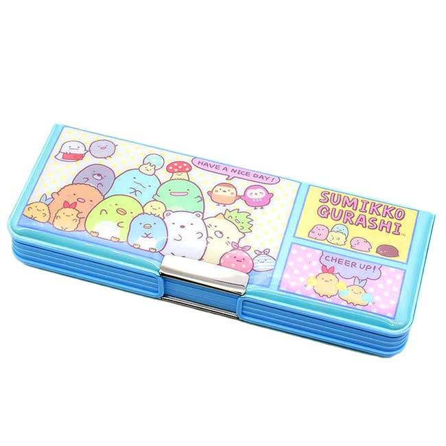 雙開鉛筆盒 SAN-X 角落小夥伴 Sumikkogurashi 磁鐵鉛筆盒 日本進口正版授權