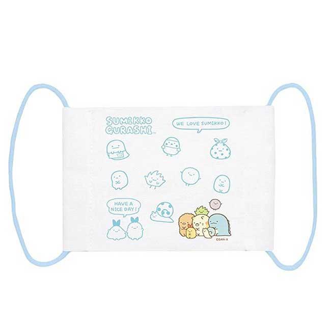 純棉布口罩 san-x 角落生物 校園系列 幼童口罩 日本進口正版授權