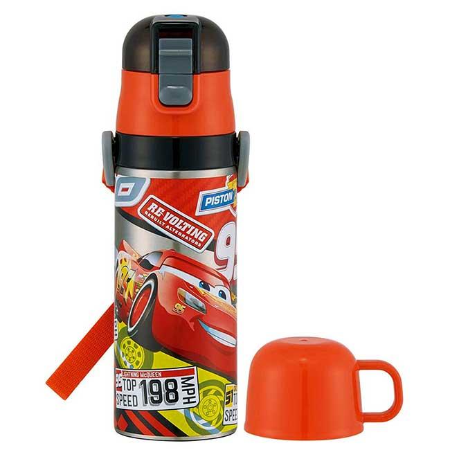 超輕量兩用不鏽鋼彈蓋保溫瓶 迪士尼 皮克斯 汽車總動員 CARS SKATER 水瓶 日本進口正版授權