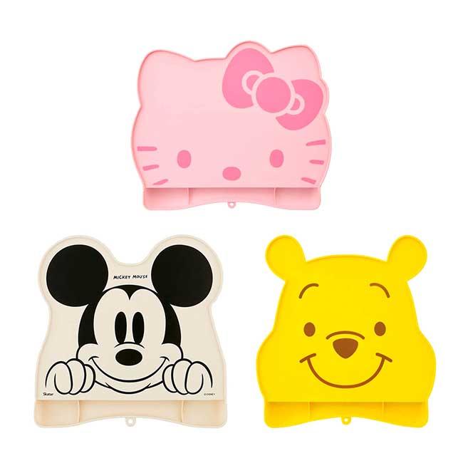兒童矽膠餐墊 迪士尼 小熊維尼 米奇 KITTY BABY餐墊 日本進口正版授權