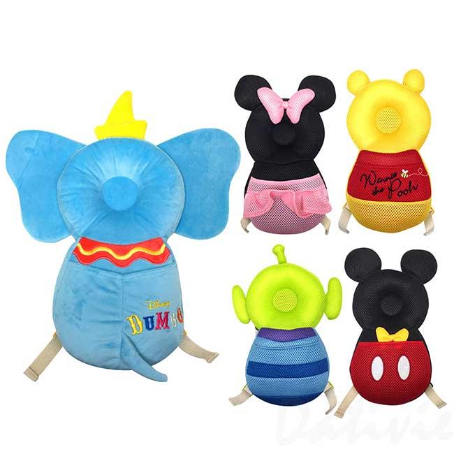 寶寶護頭背包 迪士尼 米奇米妮 維尼 小飛象 三眼怪 防撞護具 學步防摔枕 日本進口正版授權