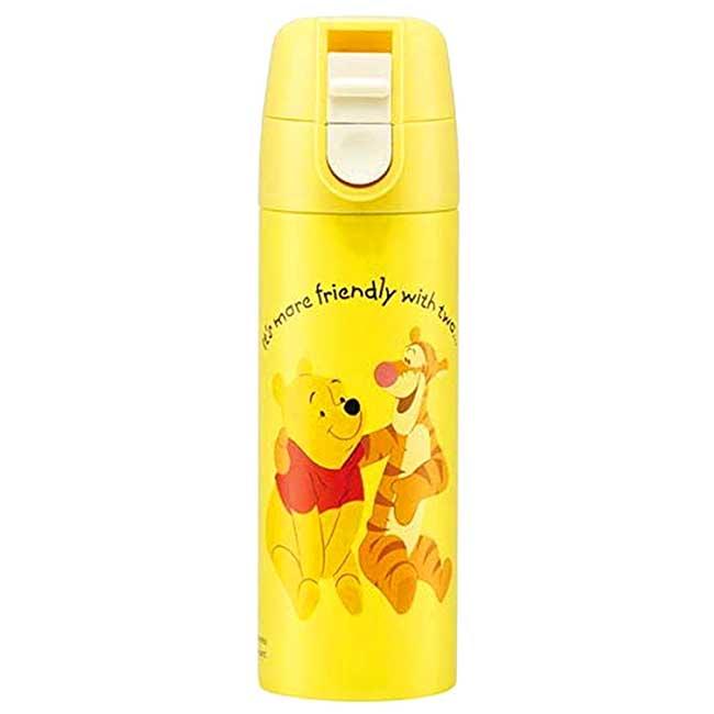 迷你不鏽鋼彈蓋保溫瓶 迪士尼 小熊維尼 POOH SKATER 水瓶 日本進口正版授權