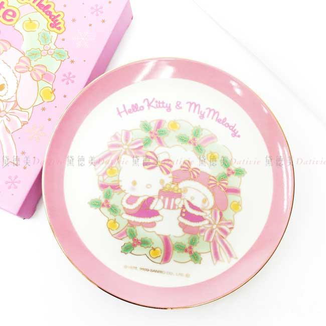 陶瓷圓盤 三麗鷗 HELLO KITTY 凱蒂貓 Sanrio Original 盤子 日本進口正版授權