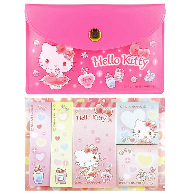 自黏便利貼附收納小袋 三麗鷗 凱蒂貓 KITTY memo貼 日本進口正版授權