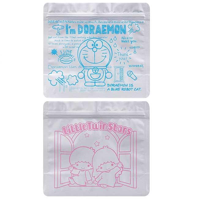 方形鋁製夾鏈袋組 三麗鷗 哆啦A夢 雙子星 可冷凍夾鏈袋 日本進口正版授權
