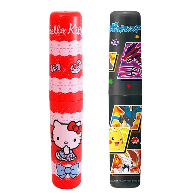 餐具收納罐 日本 sanrio 凱蒂貓 KITTY 寶可夢 皮卡丘 收納圓罐 日本進口正版授權