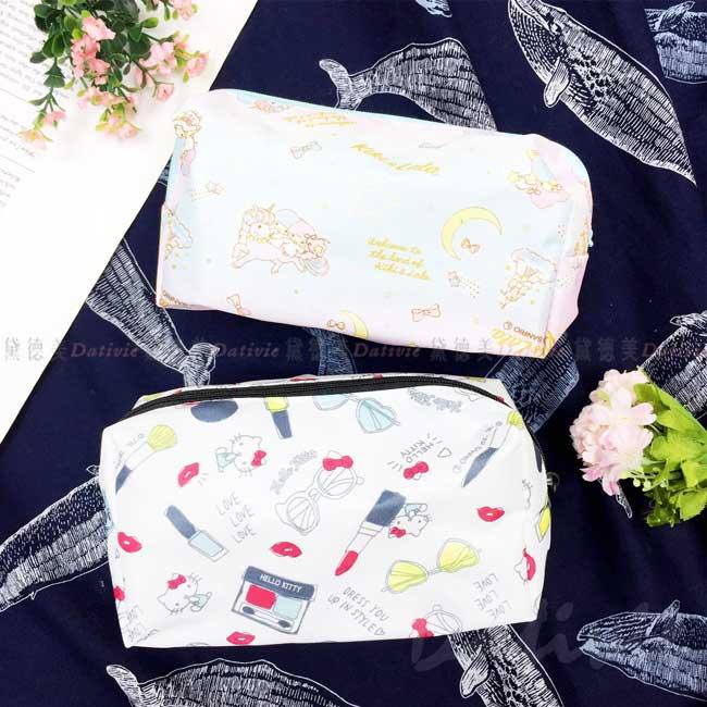 拉鍊收納袋 sanrio 雙子星 KITTY 三麗鷗 化妝包 日本進口正版授權
