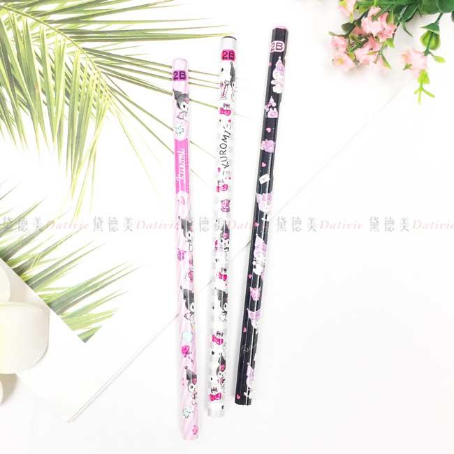 2B六角木頭鉛筆 三麗鷗 酷洛米 Sanrio Original 3入鉛筆 日本進口正版授權