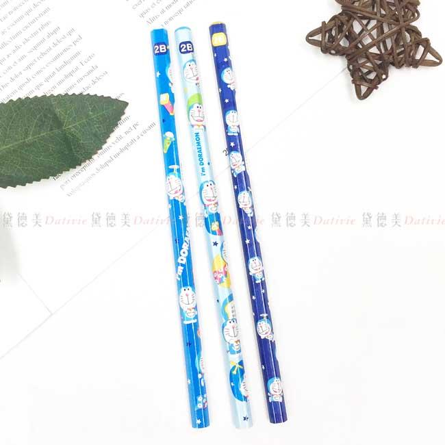 2B六角木頭鉛筆 三麗鷗 哆啦A夢 三麗鷗 Sanrio Original 3入鉛筆 日本進口正版授權