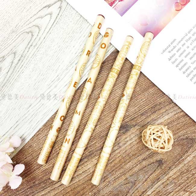 學前木頭鉛筆 sanrio 哆啦A夢 DORAEMON 三麗鷗 四入鉛筆 正版授權