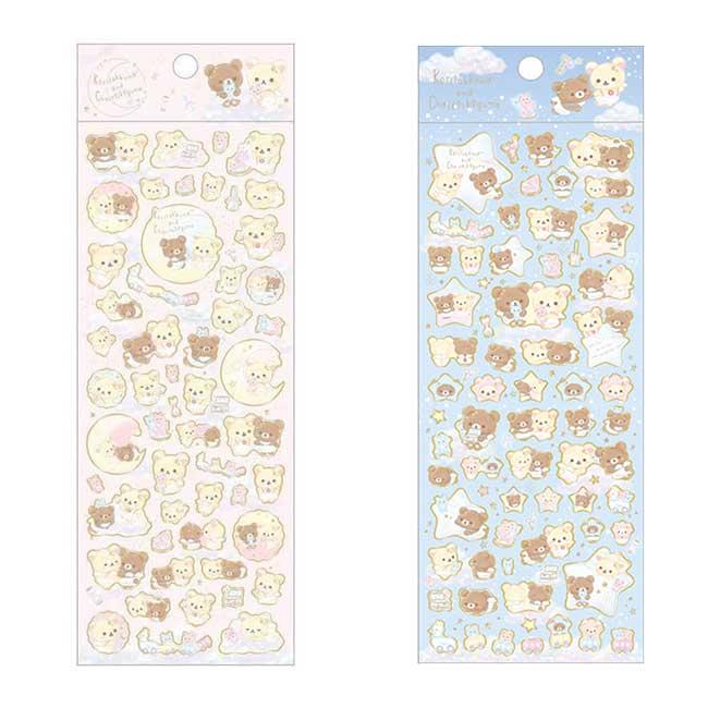 拉拉熊金邊貼紙 san-x 懶懶熊 粉 藍 造型貼紙 日本進口正版授權