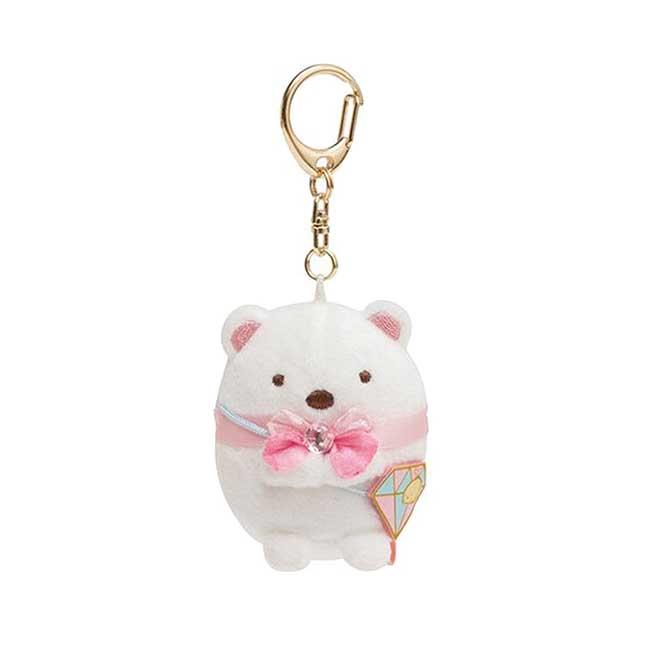 角落鑽石絨毛吊飾 SAN-X 角落小夥伴 白熊 娃娃吊飾 日本進口正版授權