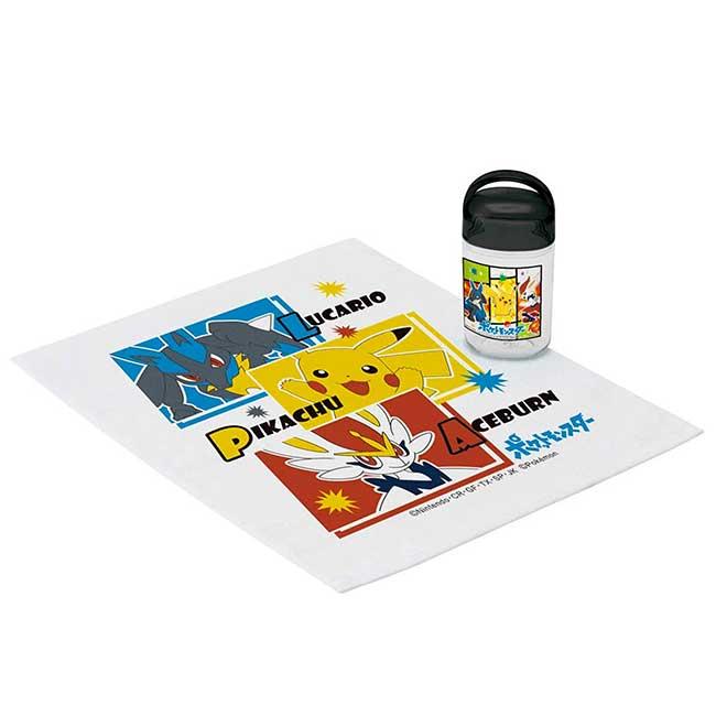 小方巾附罐 日本 寶可夢 皮卡丘 SKATER 神奇寶貝 毛巾 日本進口正版授權