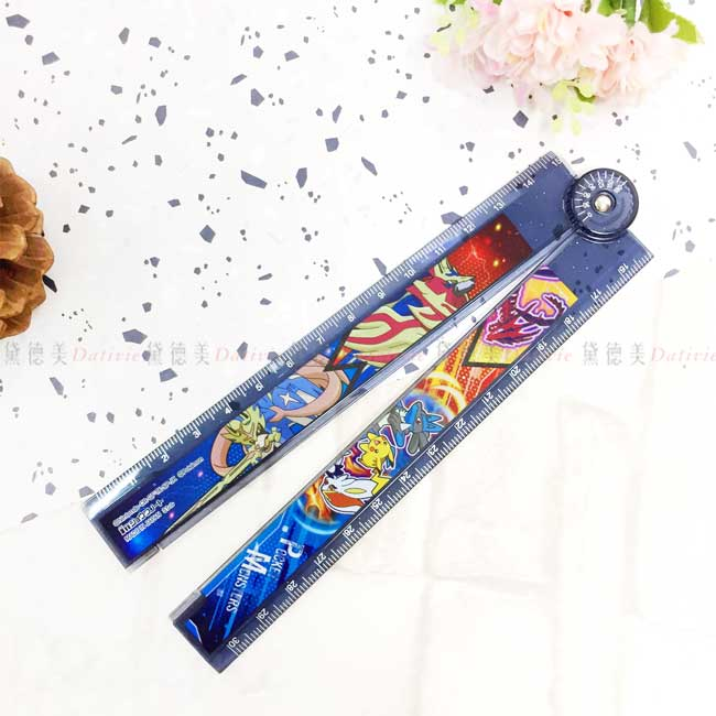 摺疊透明塑膠尺 日本 寶可夢 皮卡丘 神奇寶貝 POKEMON 摺疊尺 日本進口正版授權