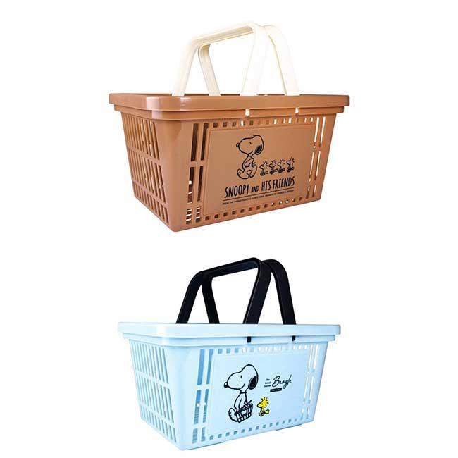 手提置物籃 史努比 糊塗塔克 SNOOPY PEANUTS 購物籃 日本進口正版授權